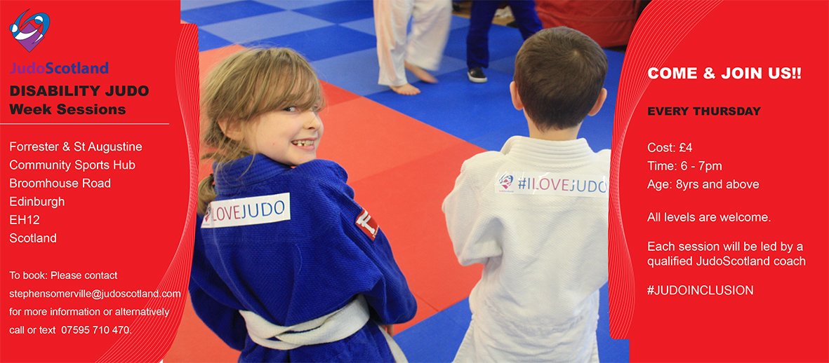 Details of Forrester HUB Inclusive Judo sessions.