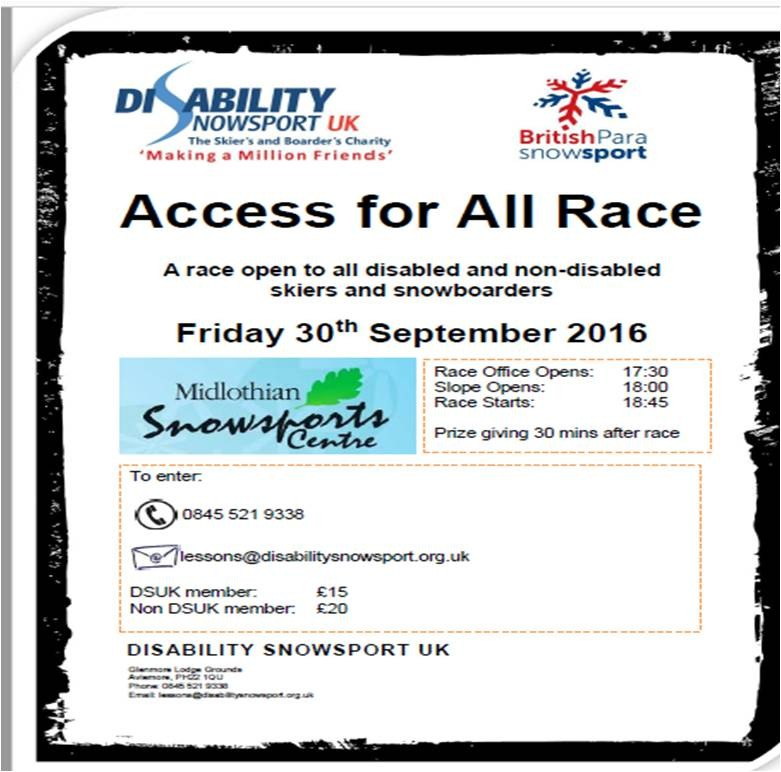 Access for All Race - Disability Snowsports Opportunity