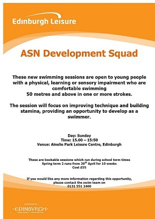 Edinburgh Leisure ASN Development Squad
